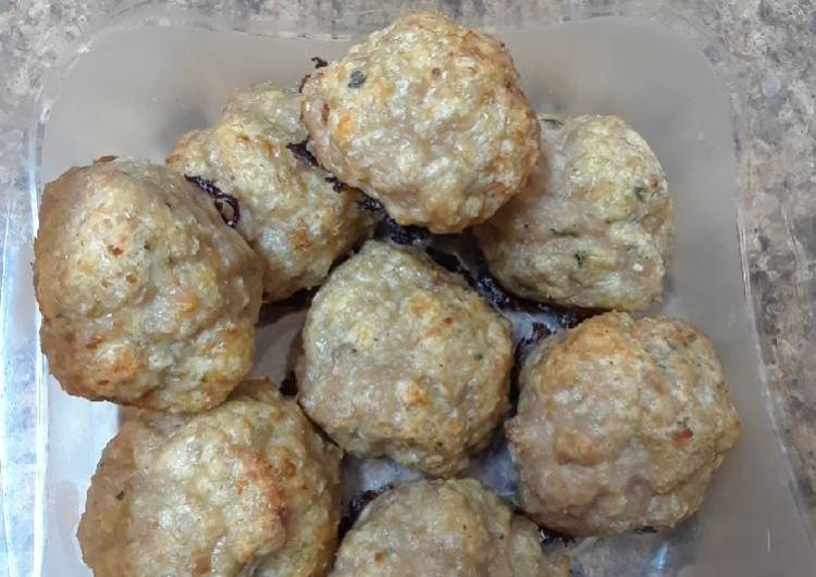 Baked Turkey (or Chicken) Meatballs