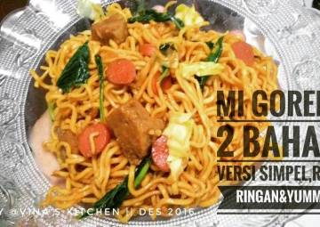 Resep Mi goreng 2 bahan,versi simpel,rasa super ! lebih ringan&tasty Top