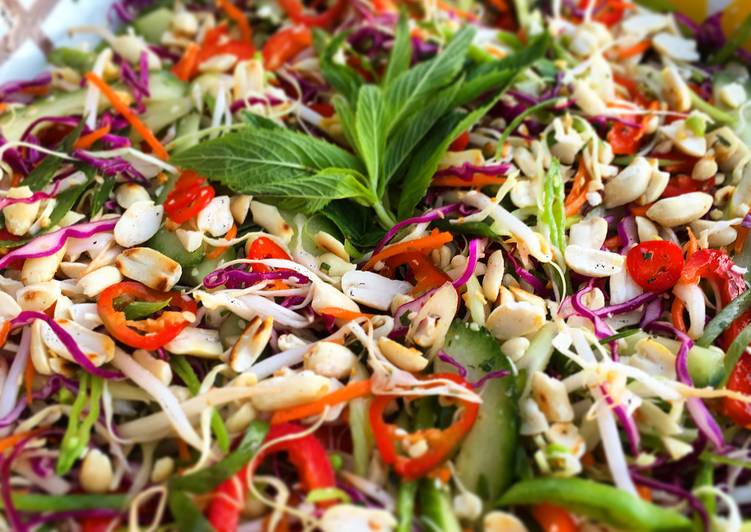 Asian Slaw with Spicy Thai Vinaigrette