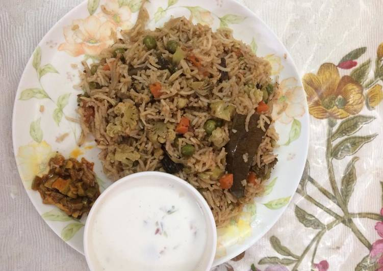 # mixed vegetables pulao in my style