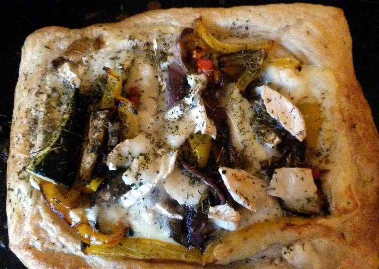Grace's Mediterranean and Goat's Cheese Pie