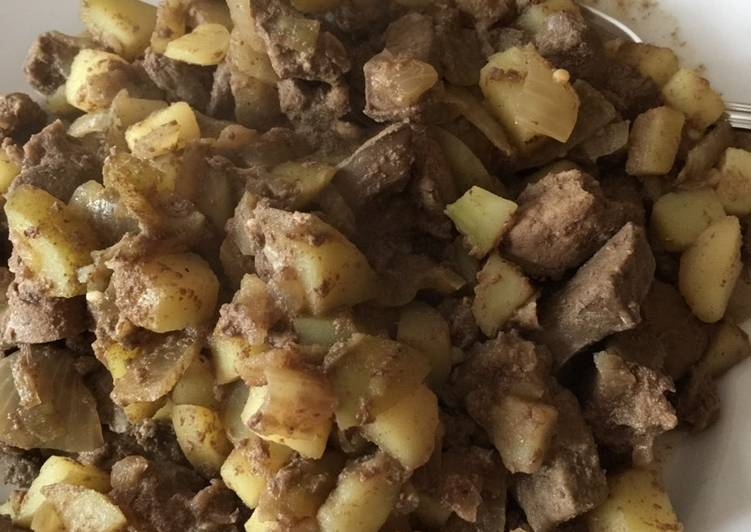 One -Pot Lamb Liver, Onions and Potatoes
