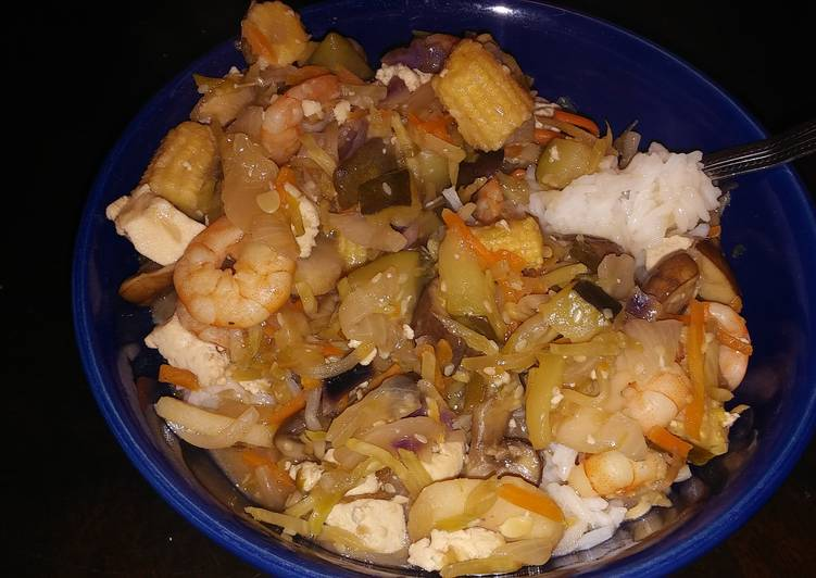 Shrimp and Tofu Stir-Fry