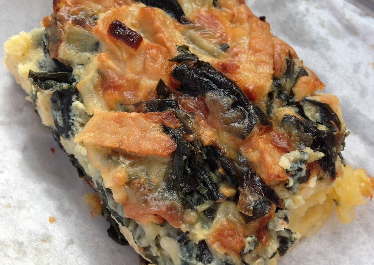 Self-crusting Tempeh and Silverbeet Quiche