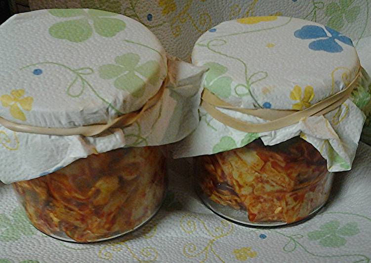 Kimchi, my simple version