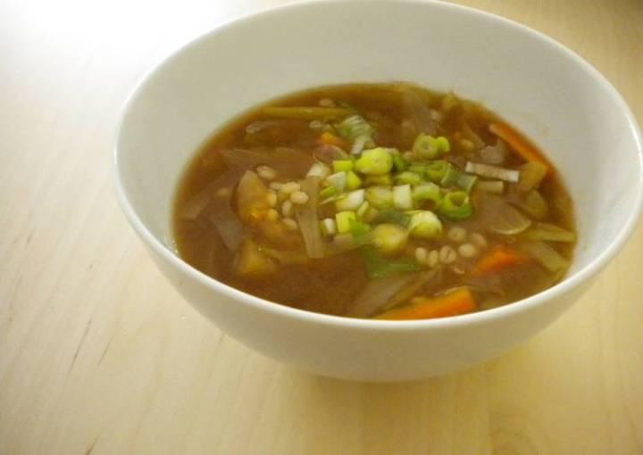 Leek and Barley Miso Soup (Macrobiotic)