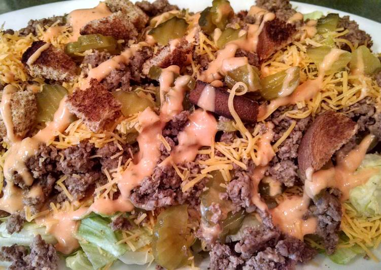 """The """"Big Mac"""" Deconstructed Salad"""