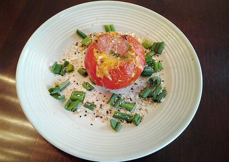 Omelette Baked Tomatos