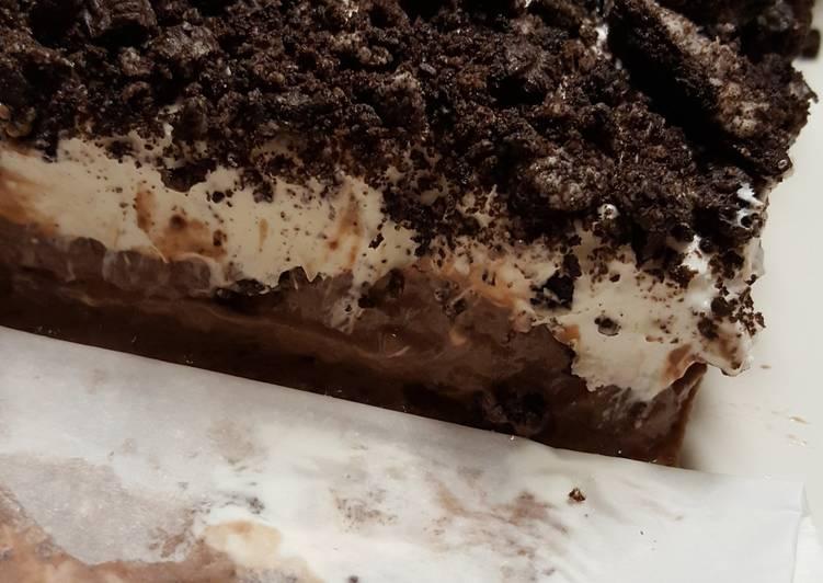 Frozen Oreo Pudding Cheesecake