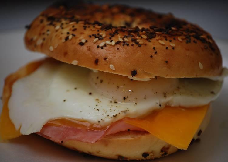 Ham, Egg, & Cheese Bagel Sandwich