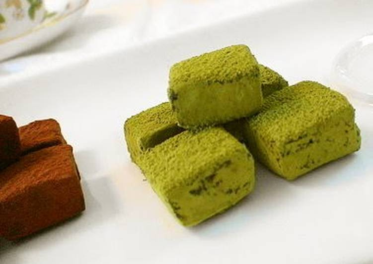 For Valentine's Day Not Too Sweet Matcha Truffles