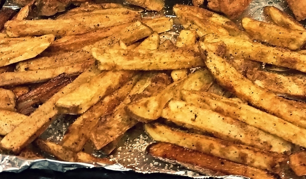 Homemade Breaded French Fries