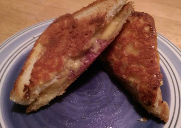 Hard Salami Cheesy grilled cheese.