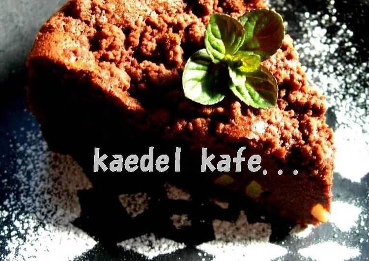 Crispy Crumbles on Gateau Chocolat