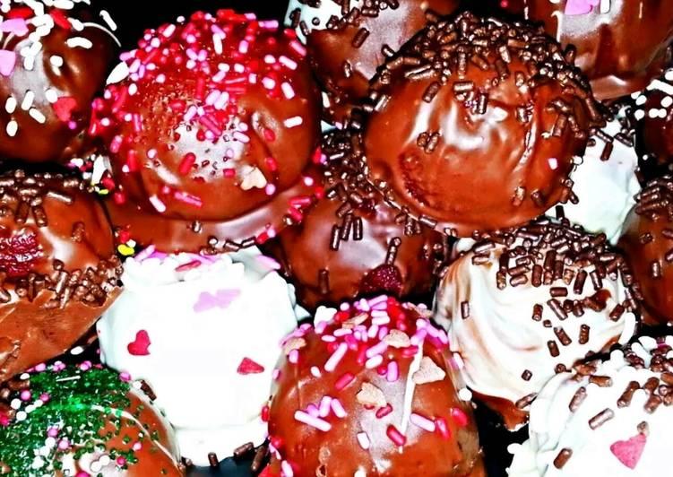 Mike's Moist Red Velvet Truffles