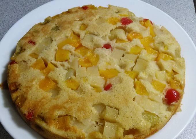 Sarah's Magic Mixed fruit upside down cake
