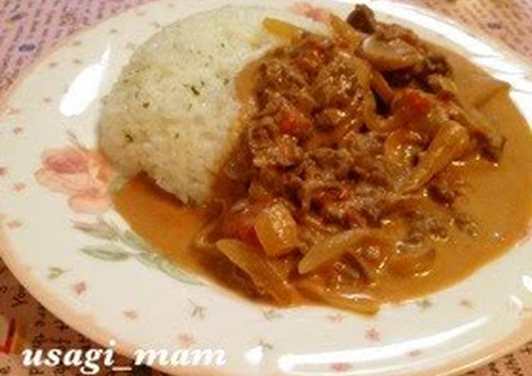 Quick Beef Stroganoff made in a Fry Pan