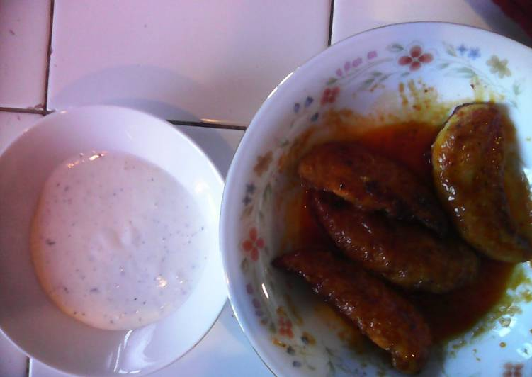 Low fat buffalo breast stip/ home made ranch dressing