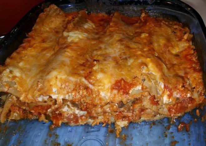 Zesty meatless lasagna