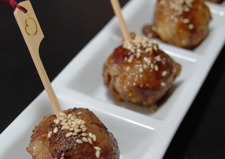 Meat-Wrapped Temari Pinchos