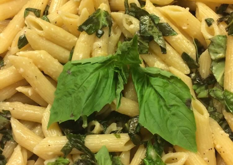 Lemon Basil & Garlic Pasta