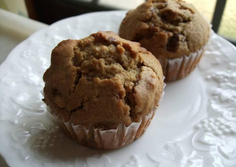 Brown Cane Sugar and Walnut Muffins
