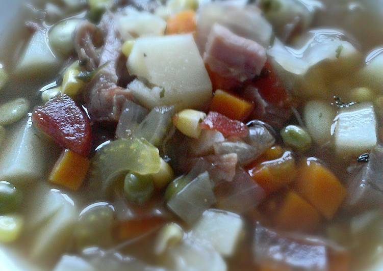 Homemade Ham & Vegetable Soup