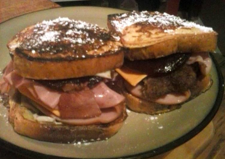 Brad's breakfast style monte cristo sandwich