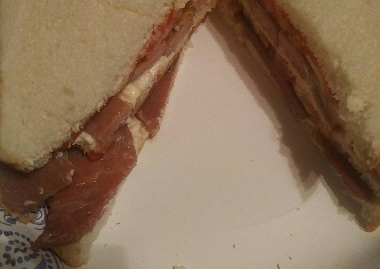 Leftover New Years Day Ham and Tomato Triple