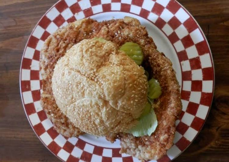 Joe's Hoosier Tenderloin Sandwich