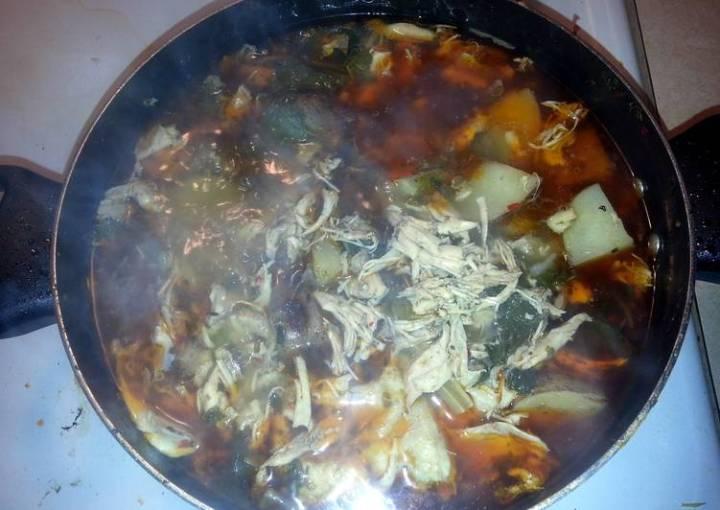 Tandoori Chicken Soup