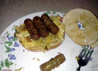 Recipe: Appetizing bagel breakfast