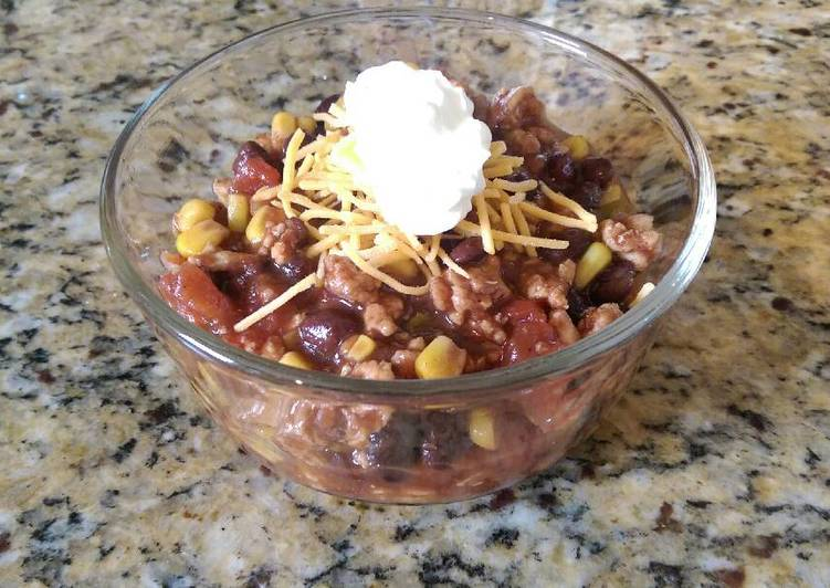 Lean Turkey, Corn and Black Bean Chili