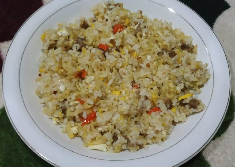 Nasi Goreng Bawang Putih simpel enaak