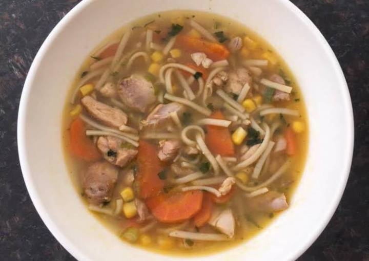 Easy Chicken Vegetable and Noodle Soup