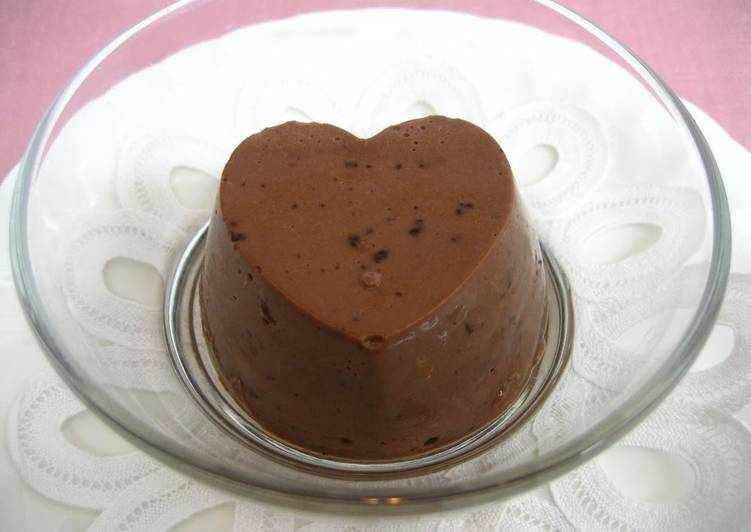 Valentine's Day Chocolate Bavarois Made Simply with Ice Cream