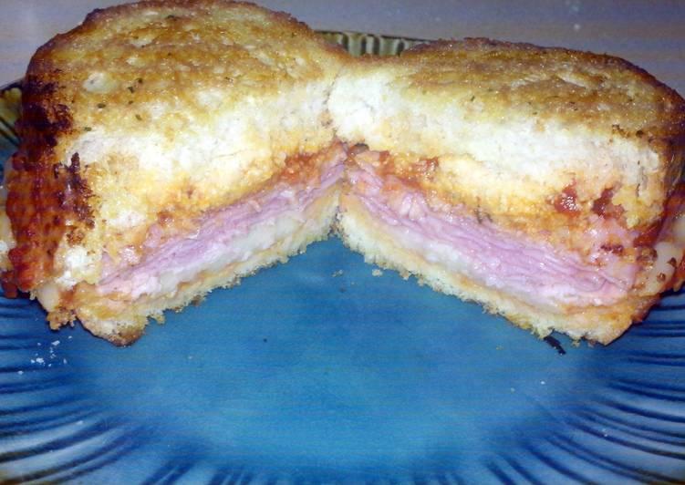Italian style texas toast sandwich