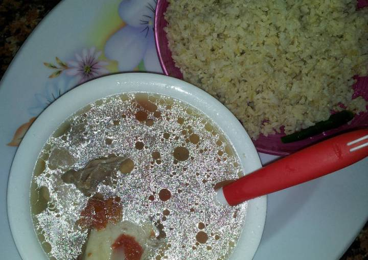 Brown Rice With Chicken Soup