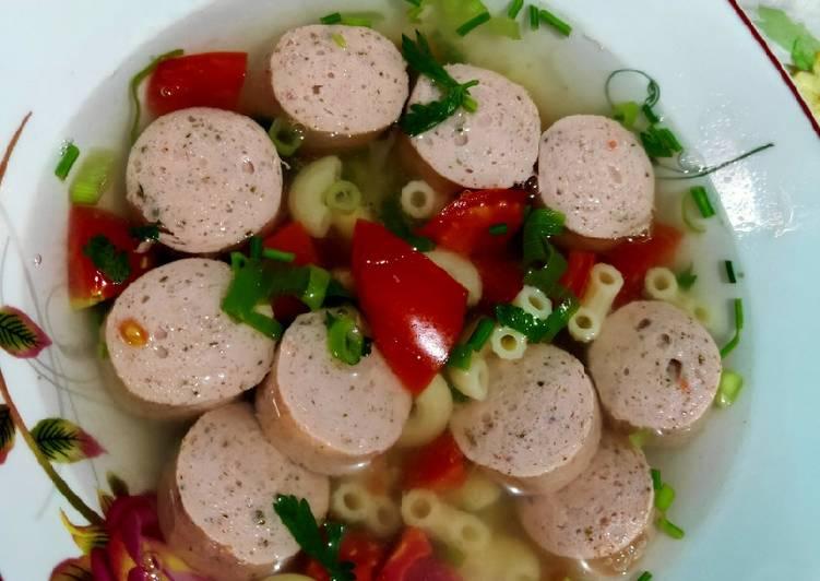 Sop Sosis Macaroni