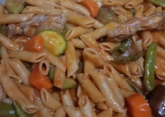 Pasta Chicken Veggies