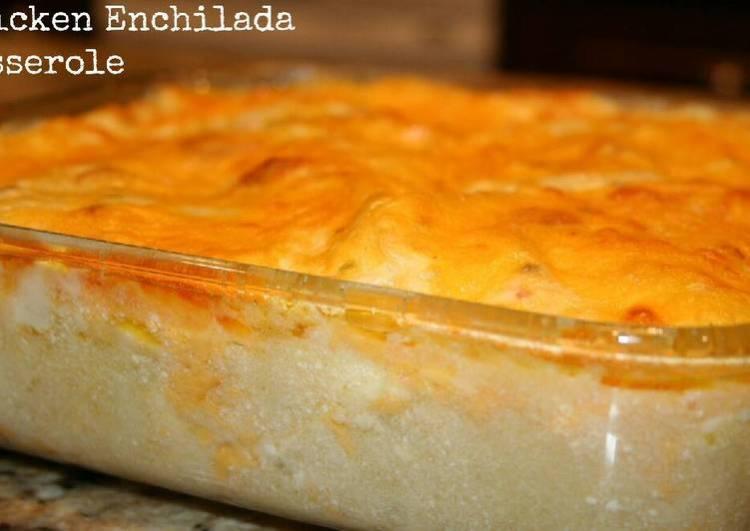 Easy Cheesy Chicken Enchilada Casserole