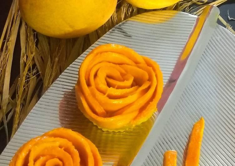 Mango rose cup cakes
