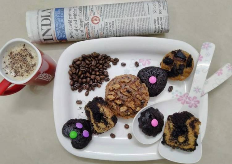 Instant Coffee with Instant Steamed cakes