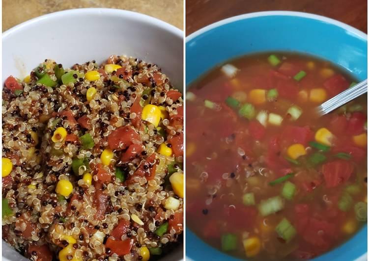 Mexican quinoa bowl or soup