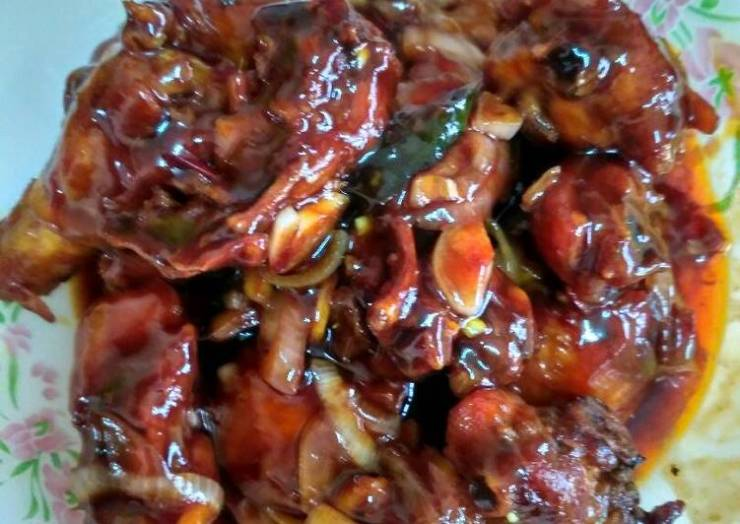Fried chicken with oyster sauce