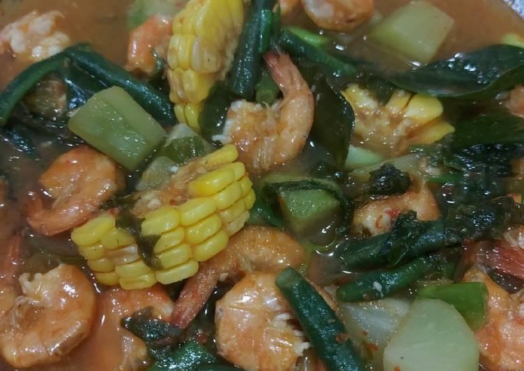Udang saus padang mix sayuran