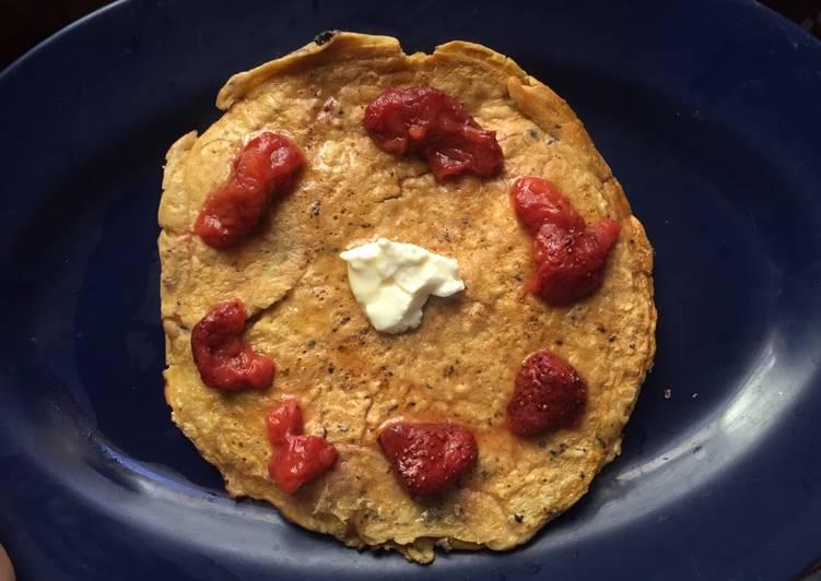 Low calorie oat pancake (sugar free)