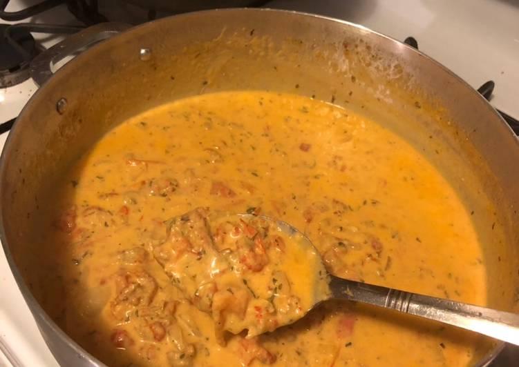 Crawfish Monica / or easy crawfish pasta