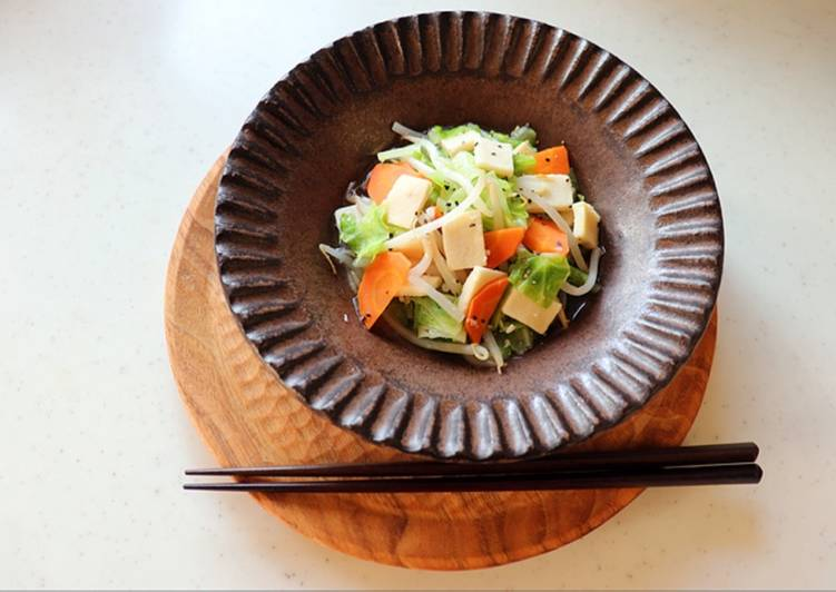 Koya-Tofu(freeze-dried tofu) and Vegetable Stir Fry