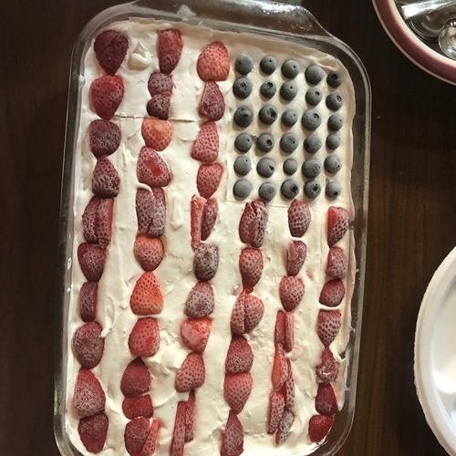4th july short cake